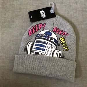 Star Wars R2D2 Heather Grey Beanie One Size